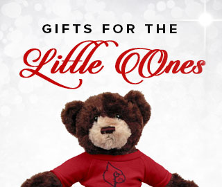 Holiday theme background with picture of a gift for a child. Click to shop for gifts for the little ones.