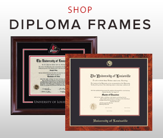 Picture of two diploma frames. Click to shop diploma frames.